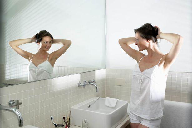 Woman-in-bathroom
